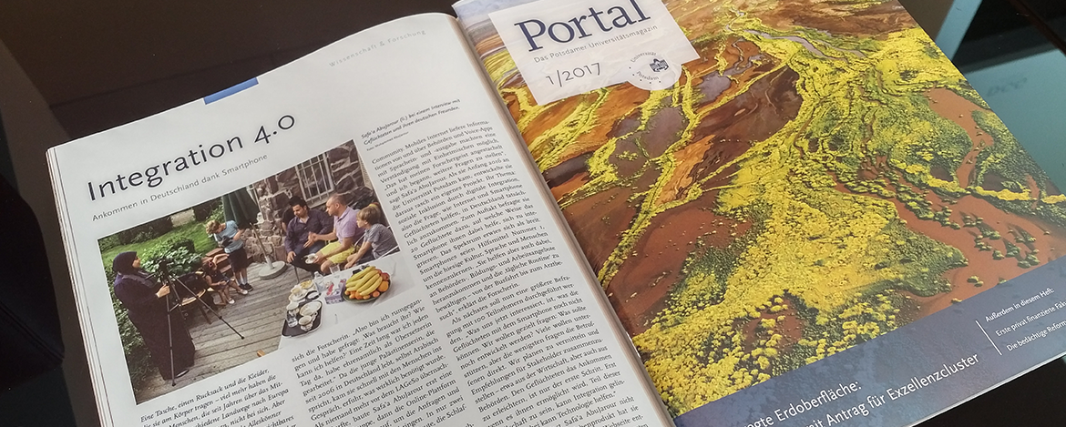 """My research has been recognized by Potsdam University's magazine: """"Portal"""""""