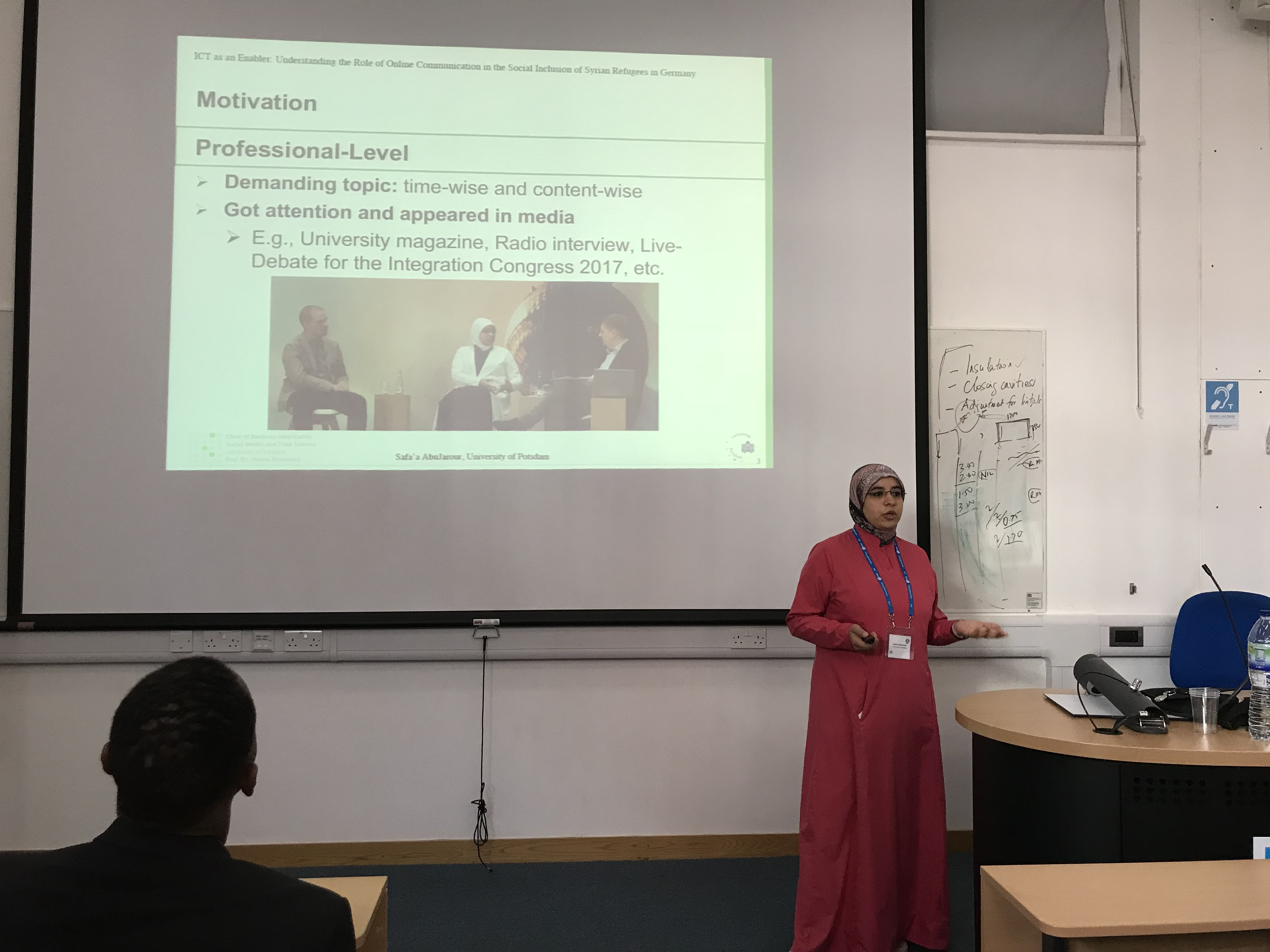 Presentation of my research papers at ECIS 2018 in Portsmouth, UK