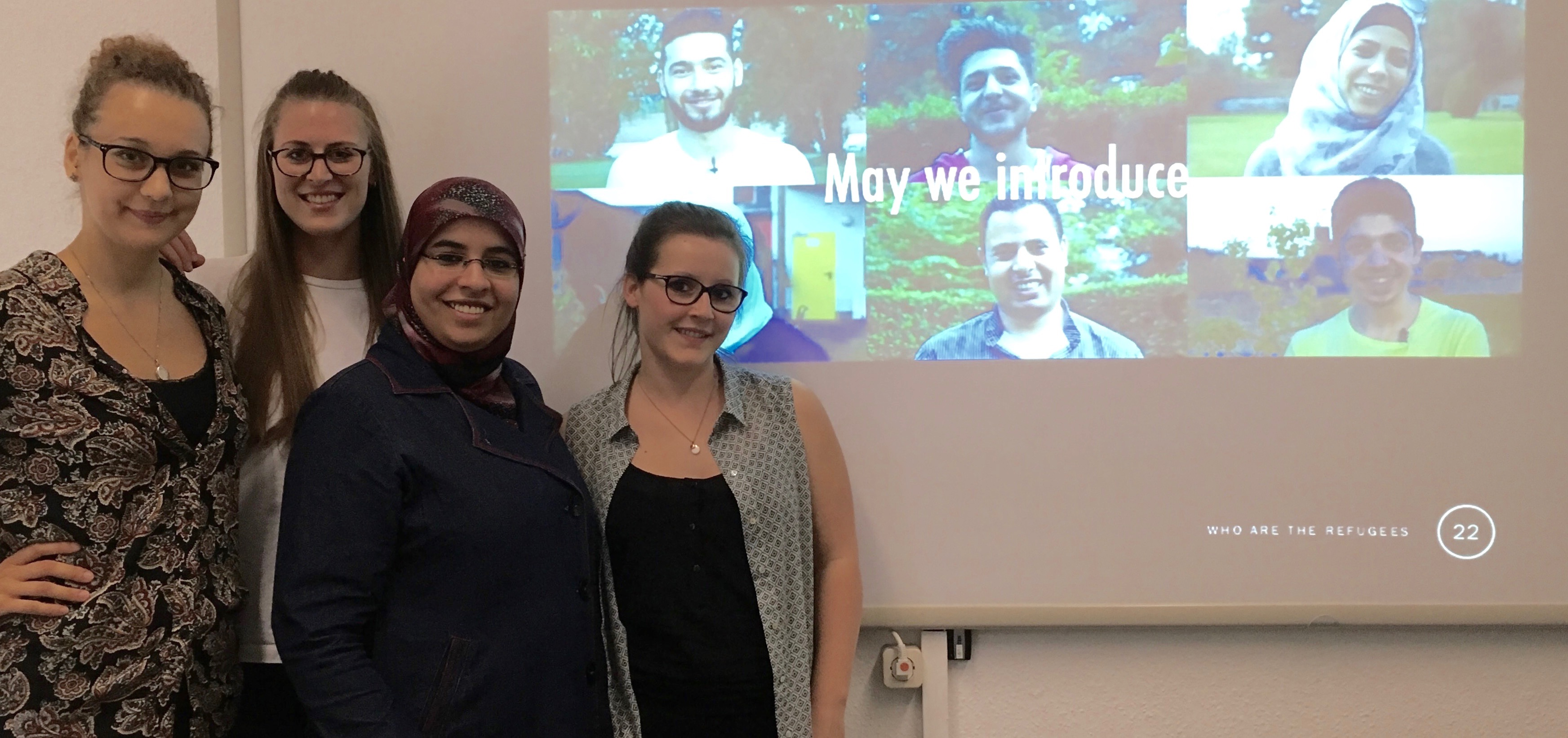 "Proud of my students in the social media campaign ""Who are the Refugees?"" for their well-done job and contribution to the project ""Stories of Refugees"""