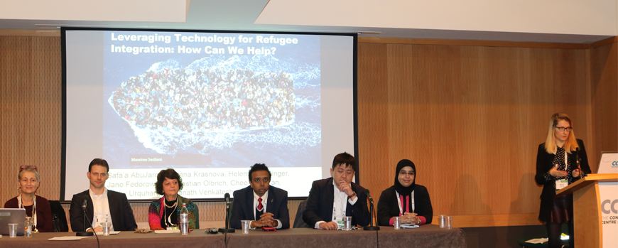 "Participation in the panel ""Leveraging Technology for Refugee Integration: How Can We Help?"" at ICIS 2016 – Dublin, Ireland"